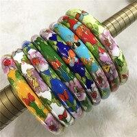 Wholesale 1PCS Chinese Handmade Cloisonne Enamel Cuff Hollow Bracelet Bangle 009