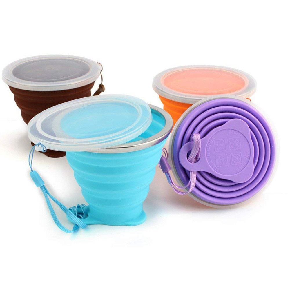 Silicone Collapsible Travel Cup For Outdoor Camping And Hiking Cup 270ML