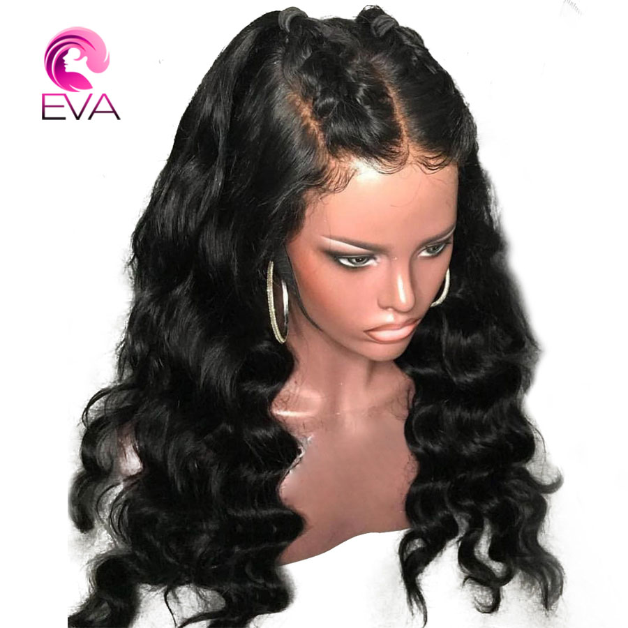 Eva Hair Full Lace Human Hair Wigs With Baby Hair Pre Plucked Natural Hairline Lace Wigs