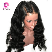 Full Lace Human Hair Wigs With Baby Hair Brazilian Body Wave Glueless Pre Plucked Natural Hairline Lace Wig Remy Hair Eva Hair