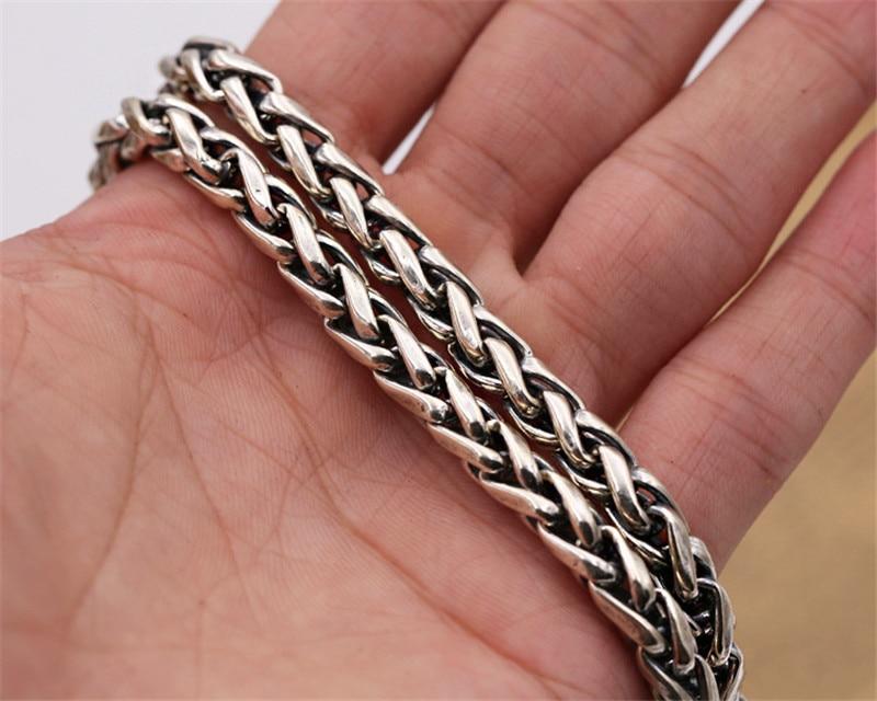 6mm de large 100% pur 925 en argent Sterling chaînes colliers pour hommes en argent Sterling collier accessoires 18-32 pouces