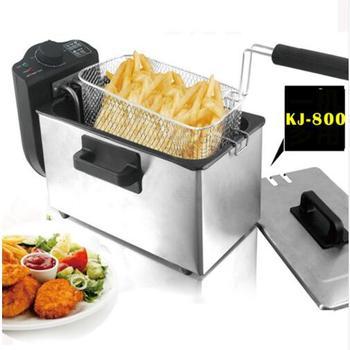 цена на 3L Single-Cylinder Fryer 2000W Smokeless Stainless Steel Fryer Ccommercial Household Electric Fryer KJ-800