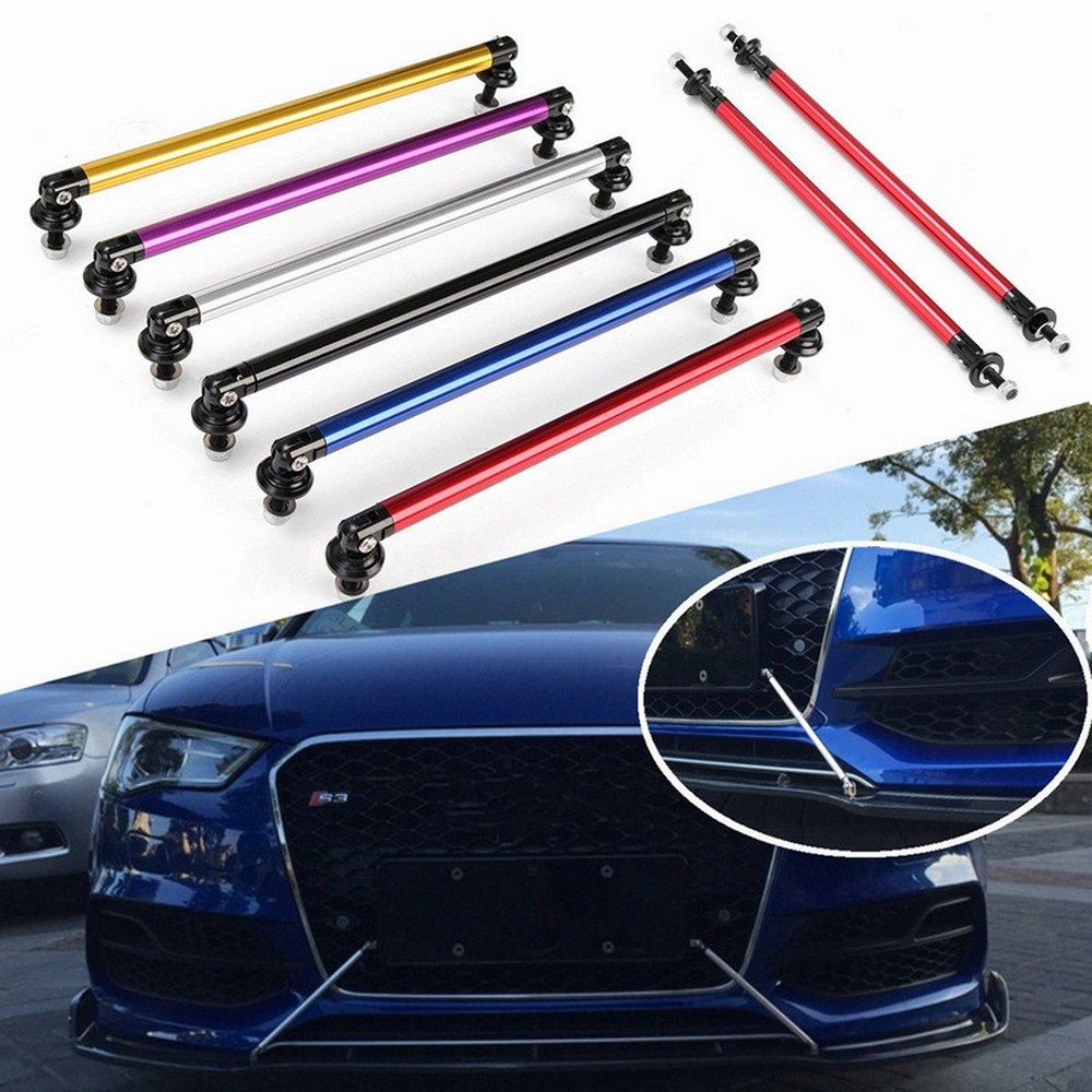 100mm bumper Splitter Adjustable Front Rear Bumper Lip Splitter Strut Brace Rod Support Bar Retractable Lever Car Accessories in Bumpers from Automobiles Motorcycles