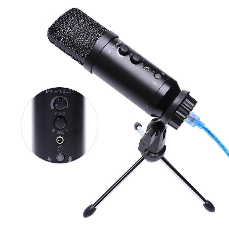 Multi fonction USB condensateur Microphone Studio Professionnel cardioïde Microphone karaoké moniteur Reverb avec trépied pour ordinateur Microphones    - AliExpress