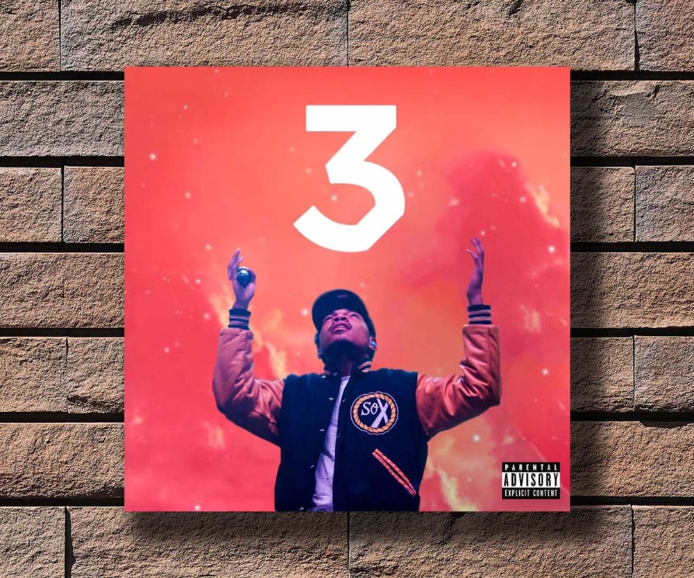 Y186 Chance 3 The Rapper Coloring Book Music Album Cover Hot Poster Art Canvas Print Decoration 16x16 24x24 27x27inch