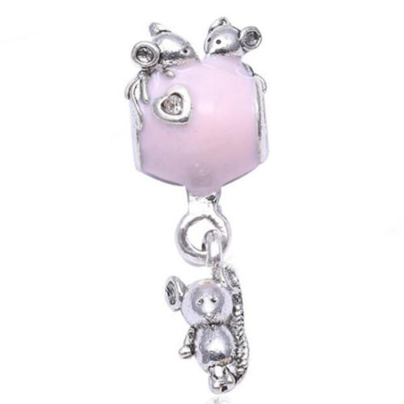 1pcs European Charm Bead Fit 925 Silver Necklace Bracelet Chain Pendant DIY #1