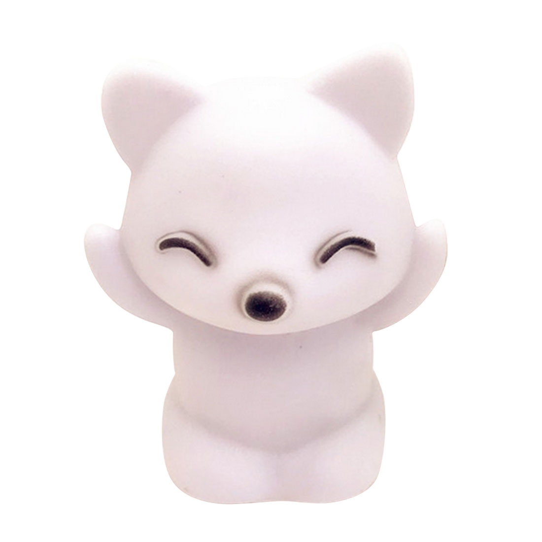 Lovely Fox Shape LED Light LED Night Light 7 Changing Colors Button Battery Home Decoration Fox Colorful Lantern Night Lamp