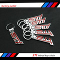 5 pcs New high quality 3D metal STI para impreza wrx Legacy Forester chaveiro anel chave chaveiro