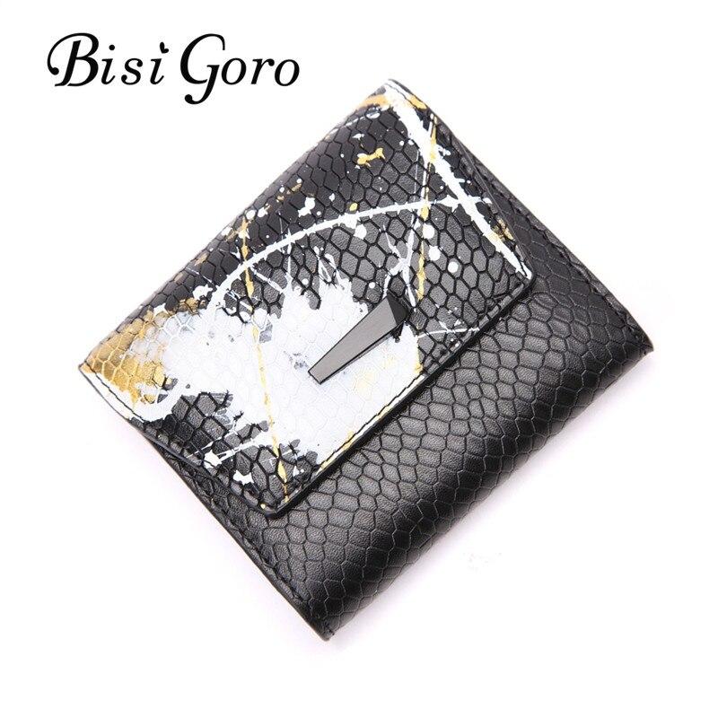 Bisi Goro 2019 Mode Cowhide Läder Kvinnor Plånbok Serpentine - Plånböcker