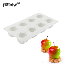 FILBAKE New 8 Even Apple Pattern Mousse Model DIY Baking Mold Silicone Sugar Cake Be Of Tools