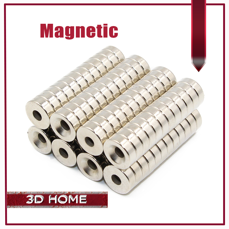 Wholesale 12Pcs/lot 3D Printer Parts Reprap Delta Kossel K800 Round Super Special Magnetic Holder Countersunk Magnet Stacked