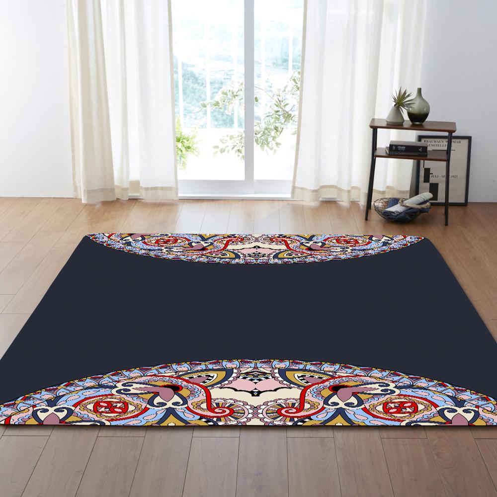 Style européen fleur motif Floormat tapis zone tapis couverture enfant jouer jeu tapis pour chambre salon décoration de la maison cadeaux - 3