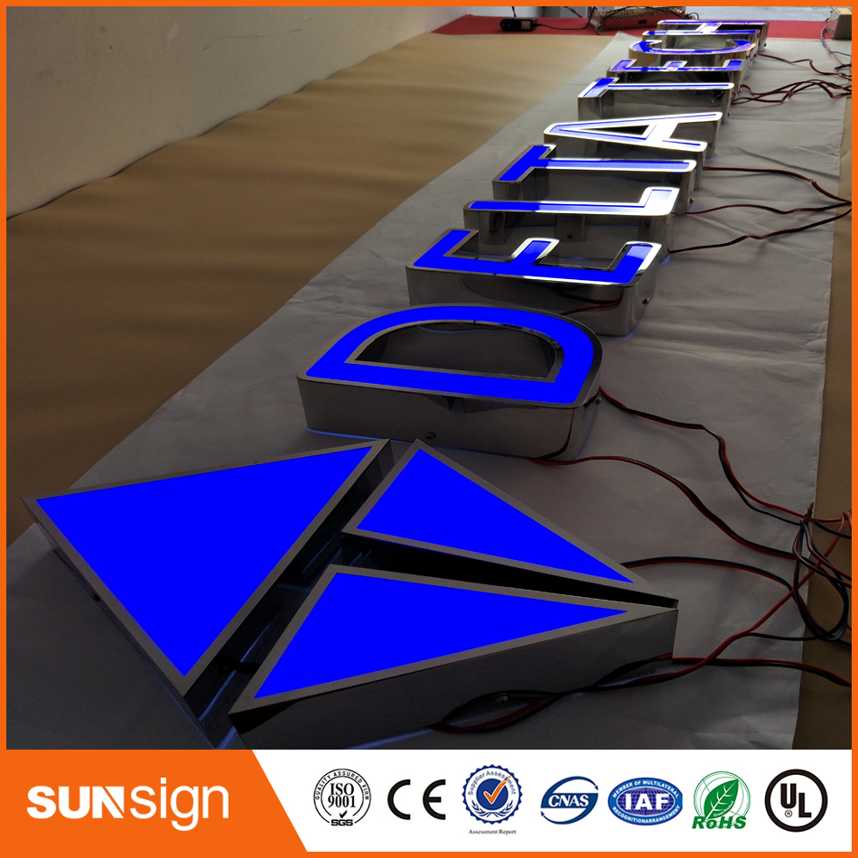 Custom Name Board Designs Shop Signs Storefront Sign Led Frontlit Board In Mall