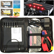 Ship from Russia High Capacity 12V Petrol Diesel Car Jump Starter Portable 12000mAh Starting Device Car Charger 4USB Power Bank