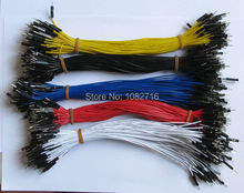 ( 40pcs x 5 colors ) 20cm 26 AWG 2.54mm 1p male to male Dupont Wire Jumper Cable For Arduino DIY Board  200pcs , Free Shipping