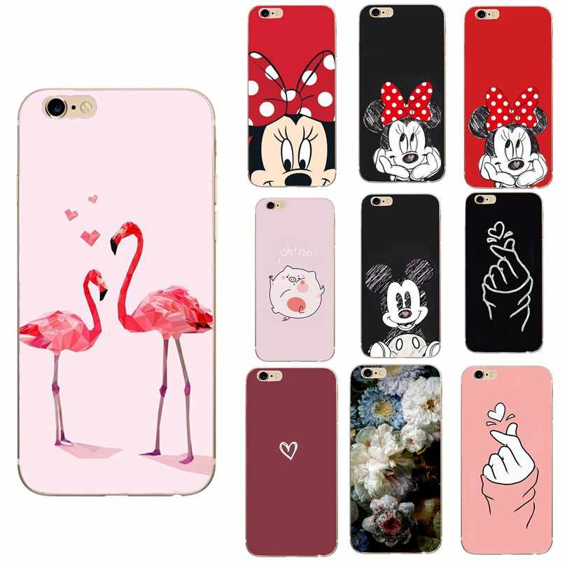 Case untuk iPhone 6 S Cover Case Luxury Silicon Cover UNTUK iPhone 7 7 Plus 6 6 S X XS max XR Coque Cover UNTUK iPhone 5 5S SE Case