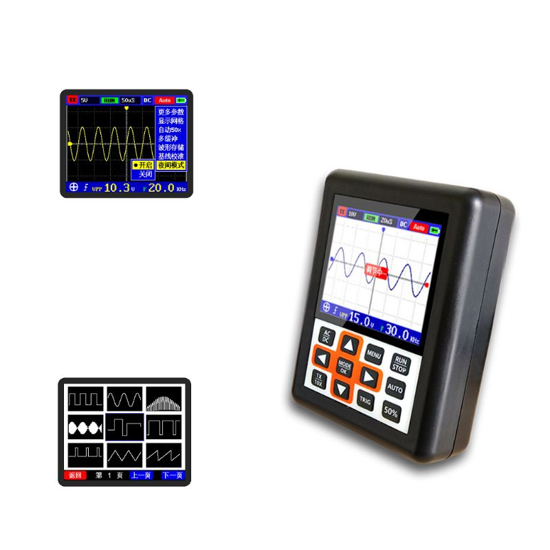 Handheld Mini Portable Digital Oscilloscope DSO FNIRSI 30M Bandwidth 200MSps Sampling Rate IPS LCD DisplayHandheld Mini Portable Digital Oscilloscope DSO FNIRSI 30M Bandwidth 200MSps Sampling Rate IPS LCD Display