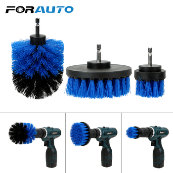 3pcs/set Drill Scrubber Brush Kit Car Brush for Tile Grout Car Boat RV Tub Car Care Cleaning Tool Hard Bristle Auto Detailing