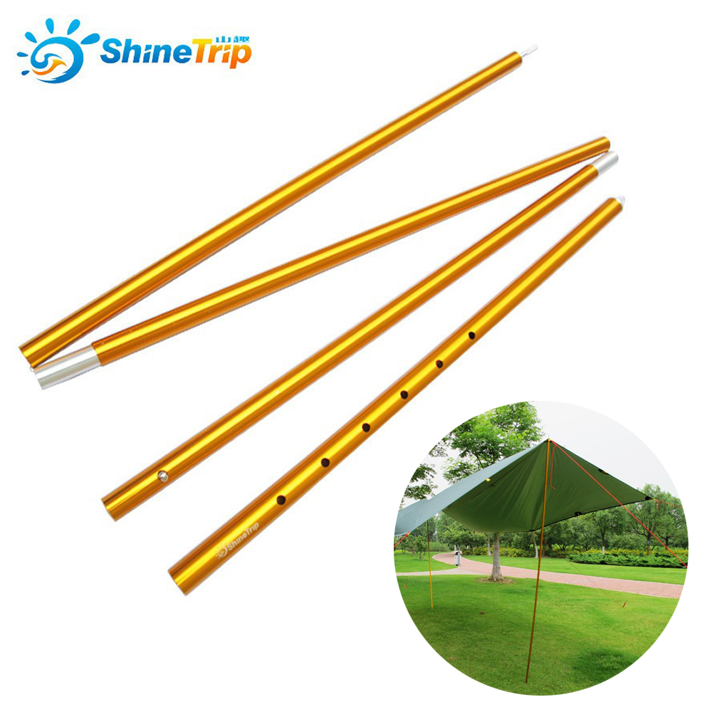 ФОТО 2 pecs SHINETRIP Outdoor sunshelter support rod canopy Aluminum Alloy tent pole telescopic tent rod with 22mm thicken 2.5m