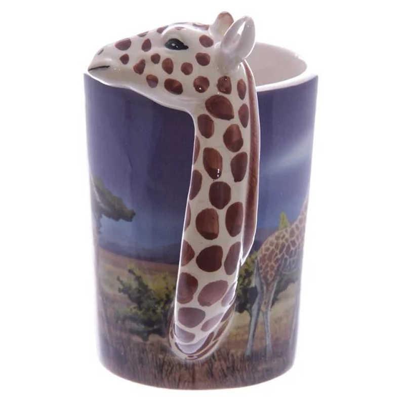 300 мл кружка с животными 3D Милые Мультяшные разрисованные керамические чашки чашка для кофе с молоком индивидуальная чашка для воды