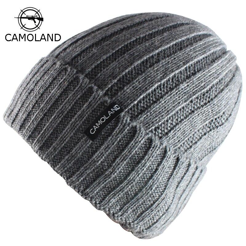 Wool Beanies Knit Men s Winter Hat Caps Skullies Bonnet Winter Hats For Men  Women Beanie Warm 368947ea254c