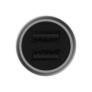 Image 3 - 100% מקורי שיאו mi mi מטען לרכב מתכת מראה מהיר תשלום 2 in 1 כפול USB מתאם עבור טבליות טלפונים ניידים Huawei