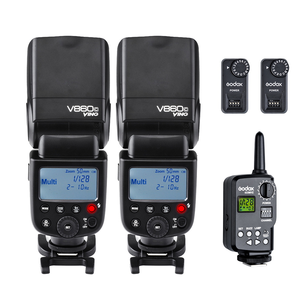 Godox VING V860C TTL Li-ion High Speed Speedlite Flash Speedlight +Godox FT-16S Wireless Flash Trigger Kit For Canon DSLR godox ving 2x v860n v860 i ttl hss master li ion flash speedlite ft 16s trigger speedlite 1 8000s for nikon d800 d90 d600 d7000