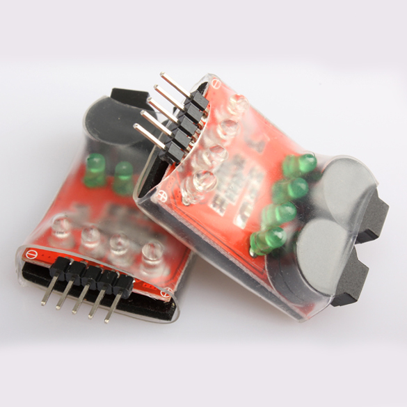2Pcs 7.2v-14.4v RC Lipo Battery Low Voltage Buzzer Alarm Detect LCC77 rc model 2s 3s 4s detect lipo battery low voltage alarm buzzer