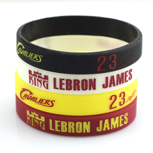 ec1ce742b4ac 4 Colors Basketball Lebron James Silicone Bracelets Basketball Silicon  Wristband Sport Band Cool Fashion Item Popular