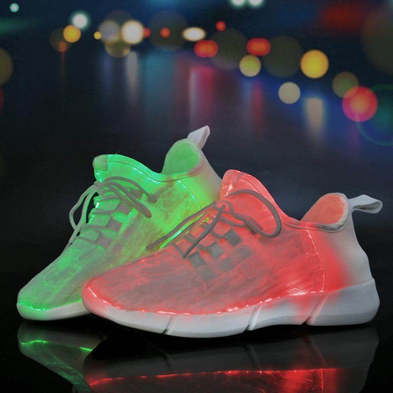 Sycatree Unisexe Usb Chaussures Led Pour Hommes Femmes Chaussures De Course Chaussures De Sport Chaussures Lumineuses Brillant Discothèque Chaussures Et Aide à La Digestion