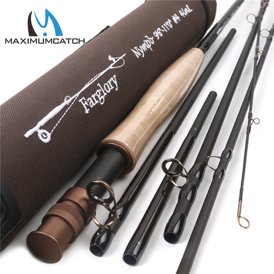 Maximumcatch Farglory 9-11FT 4WT/5WT 4-5Sec Medium Fast Nymph Fly Rod With Extra Extension Section Fly Fishing Rod maximumcatch new arrival 1wt fly fishing rod 6ft 3pcs medium fast fly rod