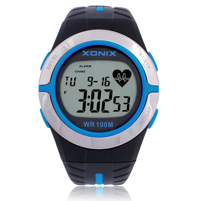 Prix pour Xonix Hommes Femmes de Fréquence Cardiaque Calories Montres Montre de Sport GRH Heath Soins IMC Unisexe de Course Plongée Montre-Bracelet de Natation Étanche 100 m