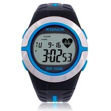 Xonix Hommes Femmes de Fréquence Cardiaque Calories Montres Montre de Sport GRH Heath Soins IMC Unisexe de Course Plongée Montre-Bracelet de Natation Étanche 100 m
