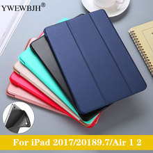 YWEWBJH For iPad Air 2 1 Case 2018 9.7 Silicone Soft Back Slim Pu Leather Smart Cover for 2017