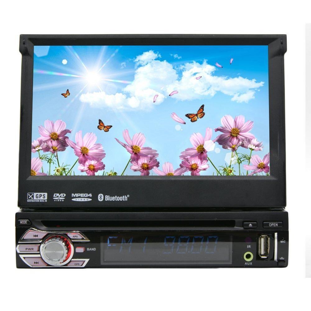 Free 8GB GPS Map Card 1din Car Radio Stereo Dash CD DVD Player Touch Screen Detachable Front Face GPS Navigation Headunit FM AM gps магнитолу 1din