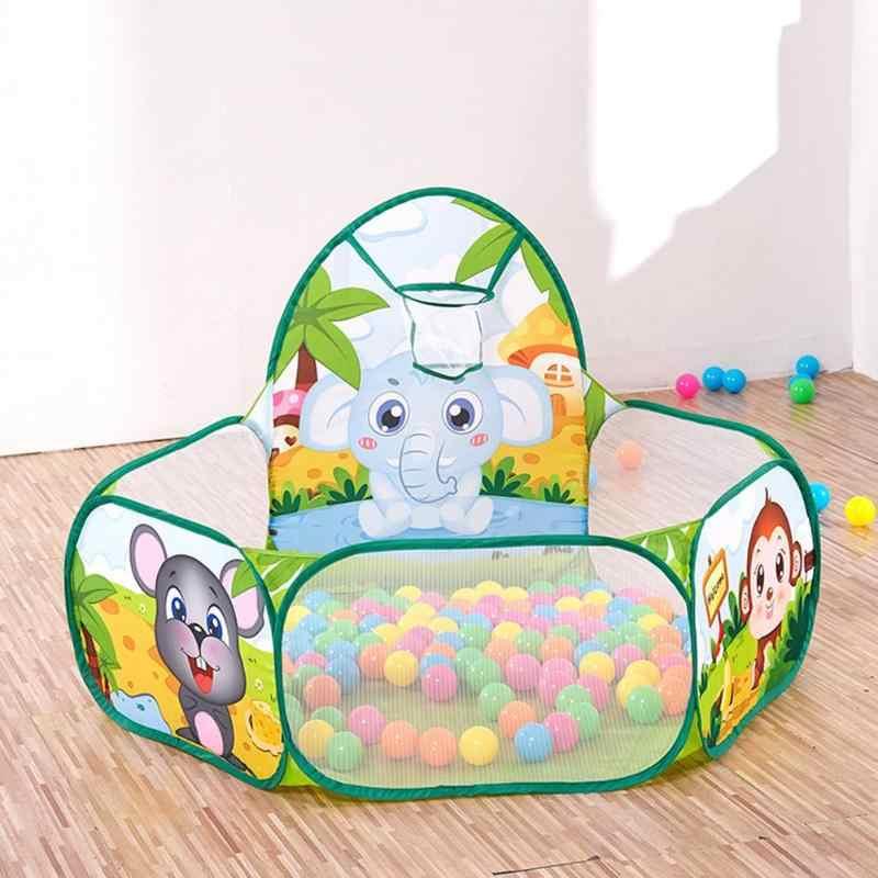 120X120X38 Cm Portable Permainan Anak-anak Boks Anak-anak Play Tenda Olahraga Dalam Ruangan Mainan Pendidikan Dienkripsi Kain Poliester