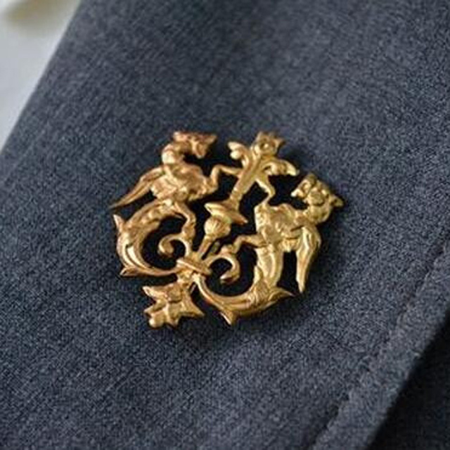 broche vintage pin up brooches for women lapel men dragon shield
