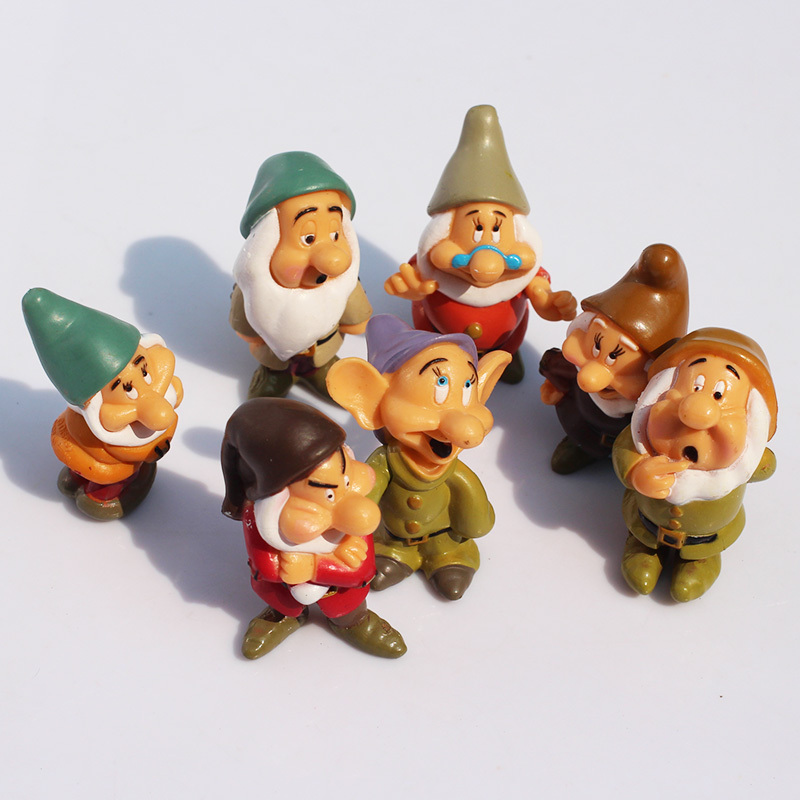 Princess <font><b>Snow</b></font> <font><b>white</b></font> <font><b>and</b></font> <font><b>seven</b></font> dwarfs pvc figure toys gift for kids 7pcs/set Free Shipping