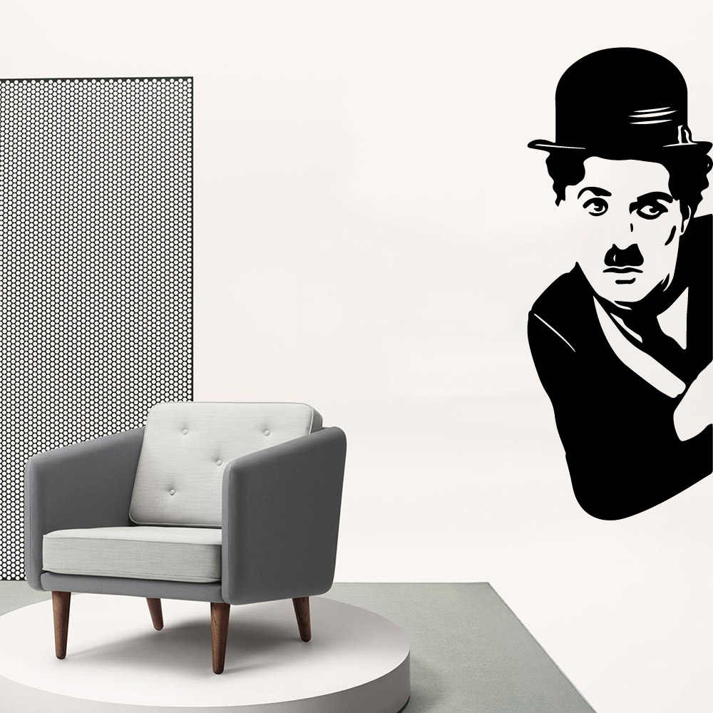 Güzellik Chaplin duvar Sticker çıkarılabilir duvar çıkartmaları Diy duvar kağıdı bebek çocuk odaları dekor Diy Pvc ev dekorasyon aksesuarları
