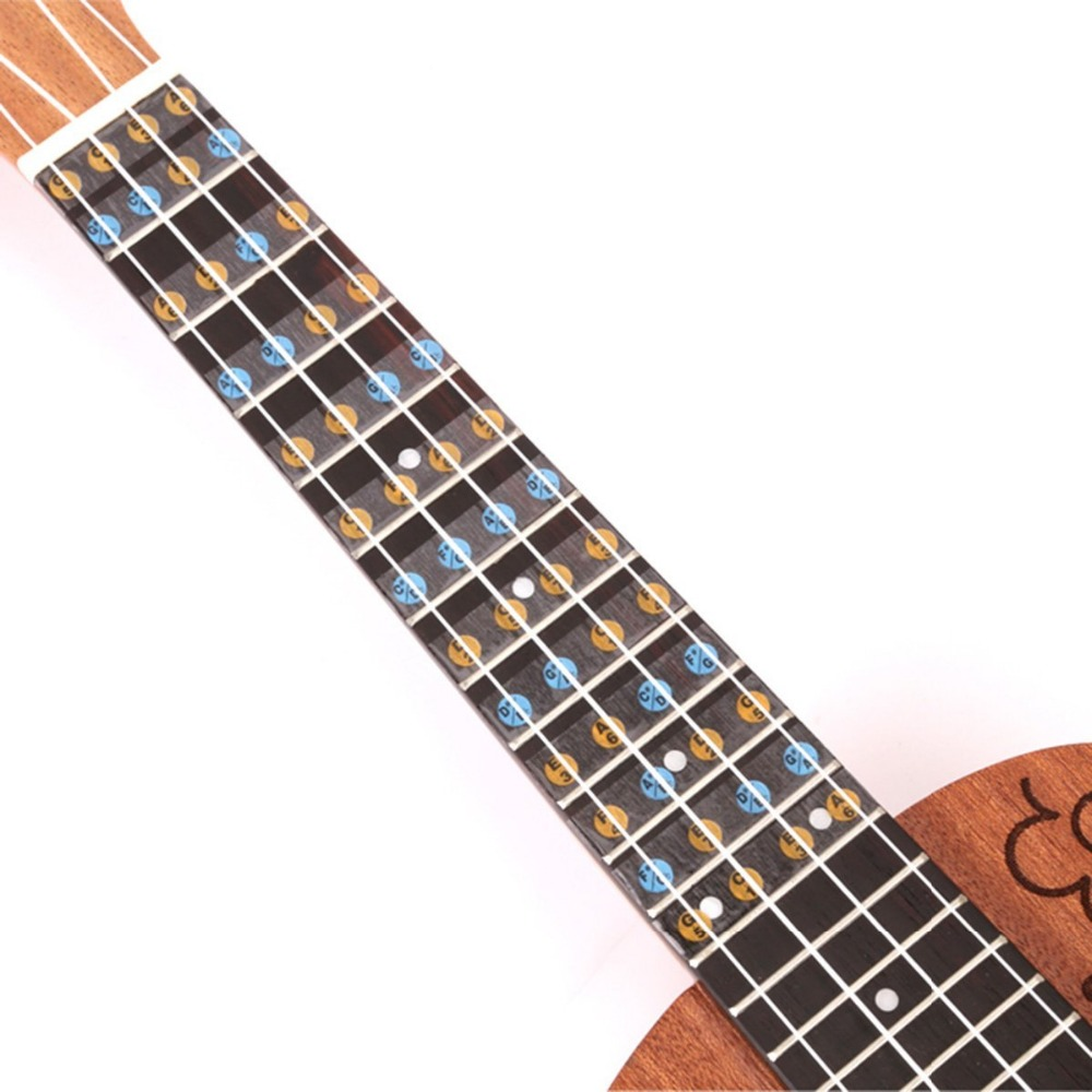 Guitar Parts & Accessories Self-adhesive Ukulele Fretboard Notes Scale Map Labels Sticker Reusable Fingerboard Fret Decals For Beginner Learner Practice In Many Styles Stringed Instruments