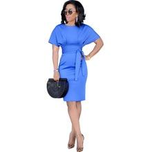 873592bea58 Adogirl 2018 Autumn Formal Dress Women O-Neck Short Sleeves Dresses Fashion  Slim Business Dress