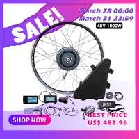 JS электрический велосипед комплект 1000 Вт с батареей 48 В Электрический аккумулятор электродвигатель для скутера колесо для электрического