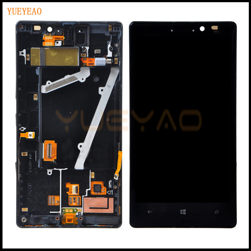 YUEYAO For Nokia Lumia 930 LCD Display + Touch Screen Digitizer With Frame Assembly Digitizer yueyao for nokia lumia 925 lcd display touch screen digitizer with bezel frame full assembly replacement parts
