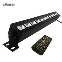 Wireless Remote Control LED Stage Bar Light 12X3W UV Single Color LED Wall Wash Lights Dmx
