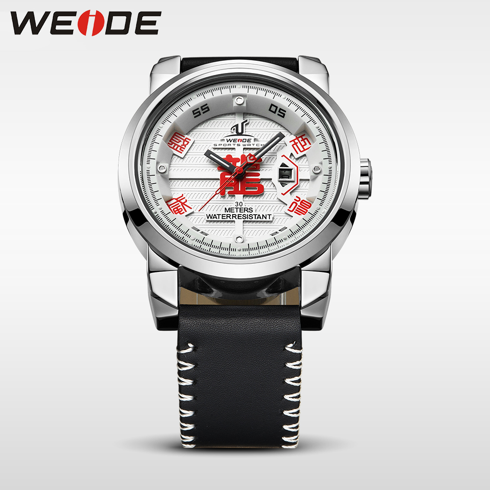 WEIDE Marca de Relojes para Hombre 30 Correa de Cuero de Alta Calidad - Relojes para hombres - foto 5