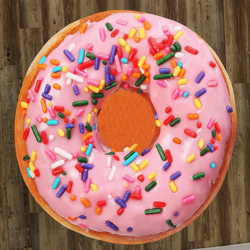 Пончик комфортные пищевые творения Реалистичная еда Новинка пледы идеально круглый тортилия пледы молельный коврик gebedcleed Мат Новый