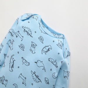 Image 4 - 2020 conjunto de macacão do bebê primavera outono roupas recém nascidos do bebê menina menino traje manga longa dos desenhos animados dinossauro macacão infantil