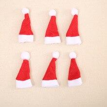 30Pcs Hot Sale Mini Santa Claus Hat Christmas Xmas Holiday Lollipop Top Topper Cover Festival Decor Wholesale
