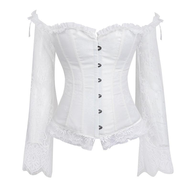 Corset   Tops For Women Black Vintage Style Victorian Retro Burlesque Lace   Corset   And   Bustiers   Vest Fashion White Gothic Lingerie