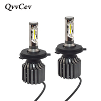 QvvCev H7 LED Car Headlight CSP Chip 72W 8000LM Auto Bulbs Lamps Fog Lights Automobile Headlamps